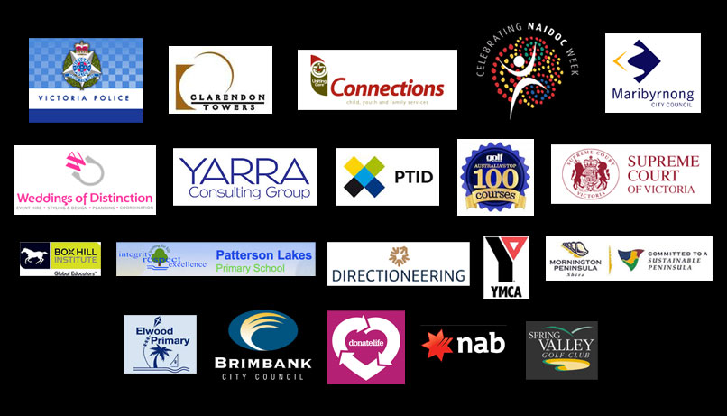 the sound guys clients, Box Hill Institute, Cinema Nova, Upfront Events, donate life, YMCA, Red Hill Country Music Festival, Brimbank City Council, NAB