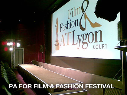 PA hire for Film and Fashion festival in melbourne