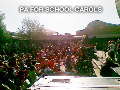 pa hire for school carols in melbourne