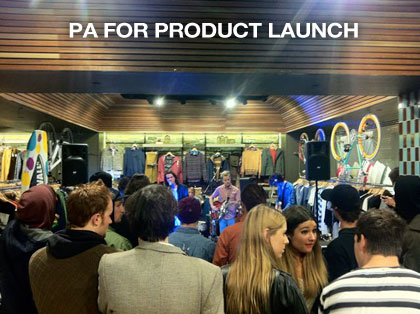 pa hire melbourne product launch