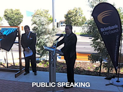 the sound guys supplied PA for Brimbank city council public speech