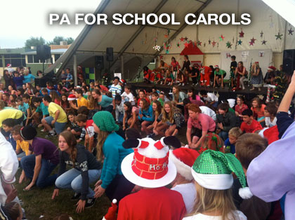 pa hire for school carols in melbourne by the sound guys