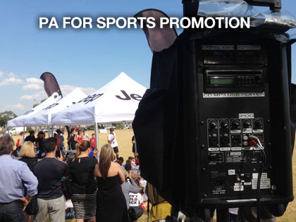 the sound guys supplying pa hire for sports promotion