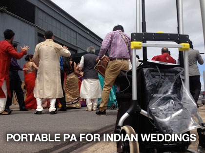the sound guys supplying portable pa for indian wedding