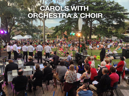 PA hire for school carols and orchestra and choir by the sound guys