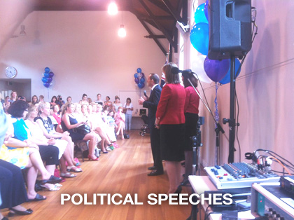 the sound guys supplied PA sound hire for Tony Abbott Political election campaign speech