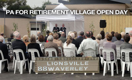 pa hire for retirement village open day